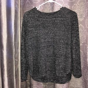 Knitted sweater-black/gray -small